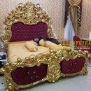 Tempat Tidur Mewah Full Emas