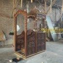 mimbar masjid, mimbar masjid kubah, jual mimbar masjid